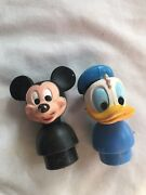 Vintage Little People Mickey Mouse And Donald Duck Rare Htf
