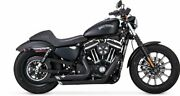 Vance And Hines 47229 Black Short Shots Staggered Full System Exhaust For Harley S