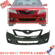 Front Bumper Cover Primed With Spoiler Holes For 2010-2011 Toyota Camry Se Model