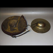Wonderful Rare 18th Century Old Antique Tibet Buddhism Ritual Alloy Copper Gong