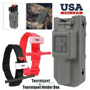One Hand Tourniquet+tactical Holster Carrier Holder Case Emergency First Aid Kit