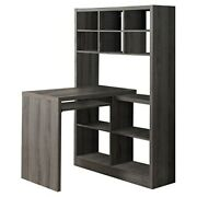 Monarch Specialties I Storage-bookcase Left Or Right Set Up-corner Desk With Mu