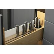 5 Magnetic Knife Organizer Soft-close Pullout Kitchen Cabinet Rollout Organizer