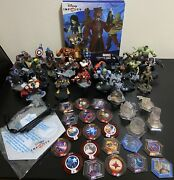 Disney Infinity 2.0 And 3.0 Marvel 52 Piece Lot Of Figures Album Crystals And Disks