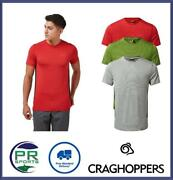 Brand New 2021 Craghoppers Mens Atmos Short Sleeve Breathable T-shirt