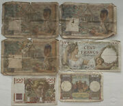 100 Cent Francs And 100 Cent Kip French Occupation 6 Notes