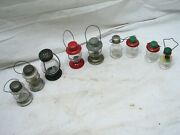 Lot 9 Vintage Skaterand039s Lantern Candy Containers Oil Lamp Light Stough