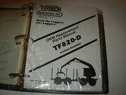 Timbco T820-d Hydro-skidder Parts Manual Issued 1999