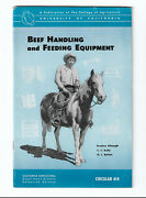 Beef Handling And Feeding Equipment Cattle Corral 1954 Ca Ag Extension Service