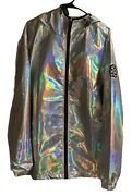 New 2019 Disney Parks Epcot Holographic Silver Jacket Spaceship Earth Xxl
