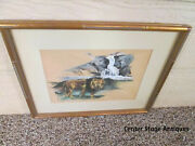 41124 The Kings Last Stand  Water Color Margerey Scheffler 1964 Lion King