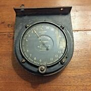 Vintage Tycos Us Navy Tachometer 1920s Altimeter With Mounting Bracket