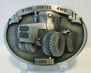 Case Ih 9100 Series 4wd Tractor 1987 Pewter Belt Buckle 9190 9180 9170 9150 9130