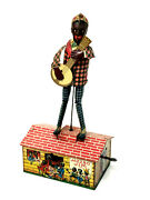 Unique Art Jazzbo Jim Dancer On The Roof, Wind-up, Tin Litho With Box