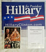 Hillary Clinton Signed 2008 Presidential Campaign Poster And Female Leader Collage