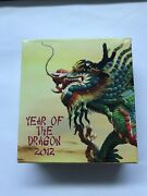 Cameroon Year Of The Dragon Real Gemstone Silver Proof Coin 1000 Francs