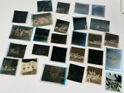 Lot 27 Rare Candid Circus Photo Negatives Carnival Clowns Elephants Tent Wow