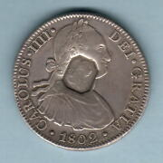 Great Britain Geo 111 - Emergency Dollar Counterstamp On Mexico 1802 8 Reales