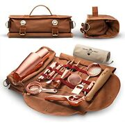 Travel Bartender Kit Bag Professional 17-piece Copper Tool Set With Stylish And
