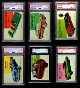 1954 Topps World On Wheels Almost Complete Set 3.5 - Vg+