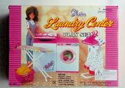 Gloria Dollhouse Furniture Laundry Center Washer And Dryer Hangers Set For Dolls