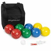 Play Platoon Bocce Ball Set Game With Case - 4 To 8 Player Bocce Balls Set