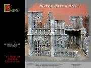 Pegasus Hobbies 28mm Gothic City Ruins Set 1 4 Large Wall Sectionsand2 Floors