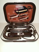 Vintage Vidal Sassoon Prof. Curling Iron Systems Vs137 Attachments + Hard Case