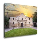 Gallery Wrapped Canvas Exterior View Of Historic Alamo Shortly After Sunrise