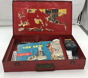 Vintage 1935 The Great New Erector Set Building Toy In Tin Box Kids Children
