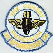 4.5 Usaf Air Force Va-75 50th Anniversary Light Blue Embroidered Jacket Patch