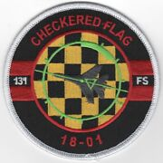 4 Usaf Air Force 131 Fs Checkered Flag 18-01 Mass Air Embroidered Jacket Patch