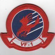 4 Navy Top Gun Movie Vf-1 Squadron Hook And Loop Embroidered Jacket Patch