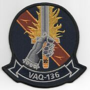 4 Navy Vaq-136 Squadron Hand Sword Gauntlet Military Embroidered Jacket Patch