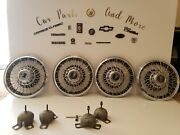 Set Of 4 14 Pontiac Wire Spoke Hub Caps Wheel Covers Grand Prix Bonneville Rwd