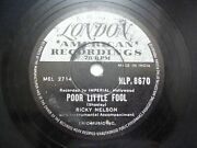 Ricky Nelson Rick Hlp 8670 India Indian Rare 78 Rpm Record 10 Vg+