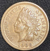 1908-s Indian Head Cent. Full Liberty High Grade