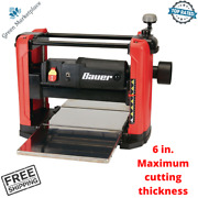 Bauer 12-1/2 Portable Thickness Planer 15 Amp With 2 Planer Knives Wood Planing