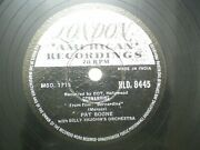 Pat Boone Hld 8445 India Indian Rare 78 Rpm Record 10 Black And White Vg-