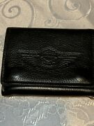 Harley Davidson 4 100th Anniversary Trifold Leather Biker Trucker Chain Wallet