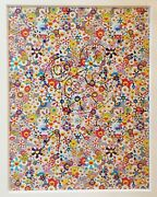 Takashi Murakamiand039s Felt-tipped Pen On Offset Lithograph Untitled Dob Flowers