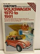 Chiltons Volkswagen 1970 - 1981 Repair And Tune Up Guide 6837 Beetle Super Beetle