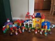 Fisher-price Little People Day At Disney Mickey And Minnie's Playset House Figures