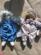 Vintage Two Classic Treasures Porcelain Clown Dolls With Tag Benefits Charity