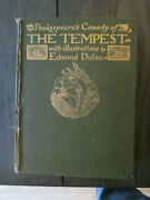 Edmund Dulac Shakespeare's Comedy Of The Tempest 1910 Vintage Illustrated Book