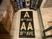 Vintage Ny Nyc R1/9 Subway Roll Sign A Aa 8 Avenue Times Square Bleecker Street