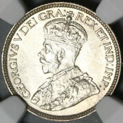 1919 Ngc Ms 62 Canada 10 Cents Sterling Silver Mint State Coin 21011104c