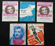 5 Judy Garland Meet Me In St. Louis The Harvey Girls Me And My Gal Sheet Music