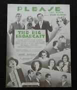 1932 The Big Broadcast Bing Crosby The Mills Brothers Cab Calloway Sheet Music