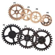 1pc Antique Wood Gear Wall Hanging Decor Home Bar Cafe Decor Plaques And Signs